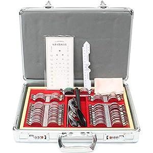 WGng 104/266-teiliges Optisches Linsen-Set für Augentests, Optometrie-Objektiv, Metallverkleidung, Evidence Box, Aluminiumetui, 104 Stück