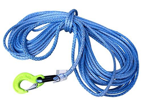 Dyneema Synthetikseil 10mm 15m mit Kausche und Haken Seilwinden Offroad