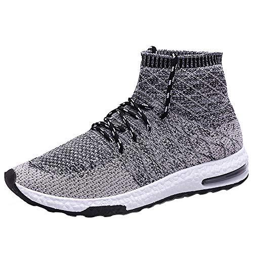 e408bb5cc3082a iHAZA Hommes Tissage Haut de Gamme Chaussettes des Chaussures Tendance Air  Coussin des Chaussures Vieux Baskets