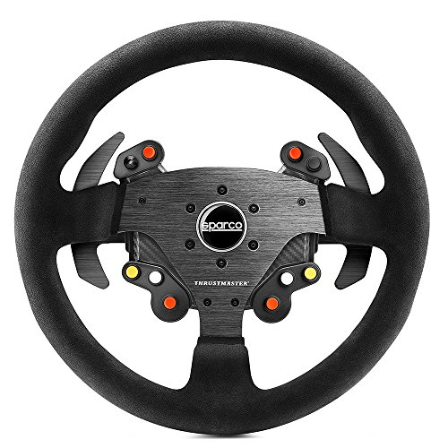 Thrustmaster TM Rally Wheel AddOn Sparco R383 Mod (Lenkrad AddOn, 33 cm, Wildleder, PS4 / PS3 / Xbox One / PC)