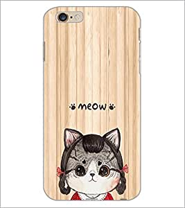 PrintDhaba Meow D-3379 Back Case Cover for APPLE IPHONE 6S (Multi-Coloured)