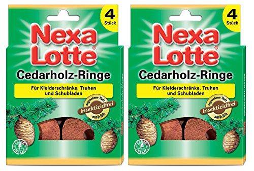 Nexa Cedarholzringe, Mottenschutz,