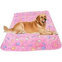 Hosaire Acolchado del animal doméstico suave cálida mascota pata de impresión sueño mascota perro gato manta cojín Mat 60 * 40 CM Rose