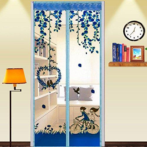 Gfullov magnetico porta schermo, schermo mesh tenda magnetica porta, anti zanzare mosche insetti bug pest, hands-free bug-proof tenda, pellicola protettiva anti criptare estate di, blue, taglia libera