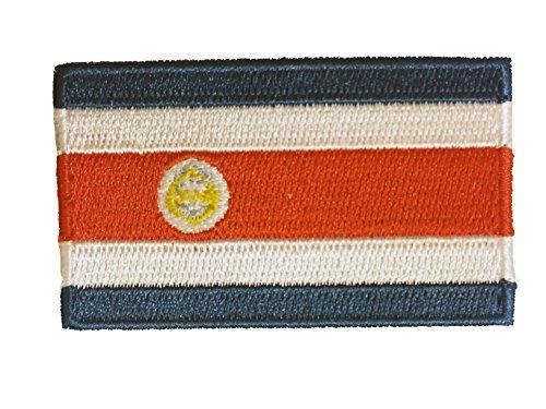 FNG Car Iron-Sew Decals Flagge Gesticktes Eisen auf Sew auf Abzeichen Patches-Südamerika, Country: Costa Rica