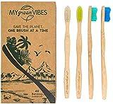 Brosses à dents en bambou My Green Vibes- Poils medium souples,sans...