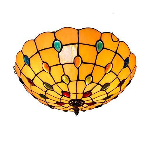 GAOYUN Kreative Mittelmeer Deckenleuchte Tiffany Farbiges Glas Deckenleuchte Korridor Balkon Foyer Deckenleuchte 40CM Twilight - Twilight Glas