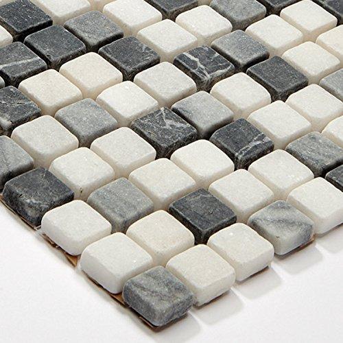 Mosaikfliesen Marmor Naturstein Mix Mosaik Schwarz