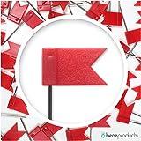 Bandierine di segnalazione–100pezzi–Flag Pins–Bandierine–Bandierine per mappa del mondo–Cartina–contrassegno aghi bacheca–Flags–Pins World Map, Rot