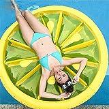 Aufblasbare Zitrone geformt schwimmende Reihe, gelbe Runde PVC-Material Schwimmbad Liege, Wasser Spaß große Explosion Sommer Strand Floaty Party Spielzeug für Erwachsene Kinder