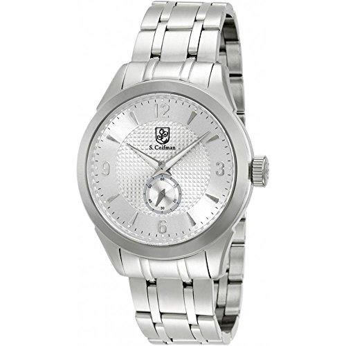 S Coifman SC0117 Mens Silver Steel Bracelet Watch