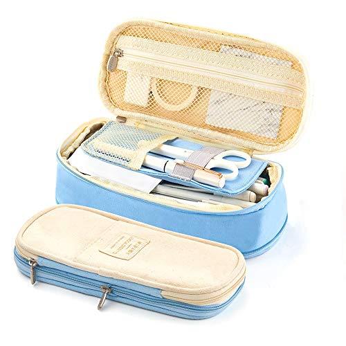 dermäppchen Durable School Student Stifthalter Organizer Schreibwaren Make-Up Kosmetiktasche für Mädchen, 20x9 cm (Lt.Blue) ()