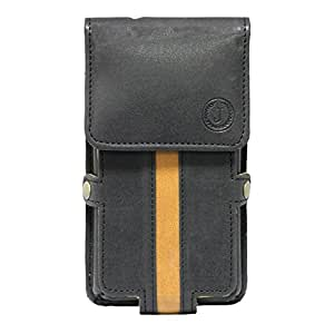 Jo Jo A6 Nillofer Series Leather Pouch Holster Case For philips sapphire s616 Black Tan