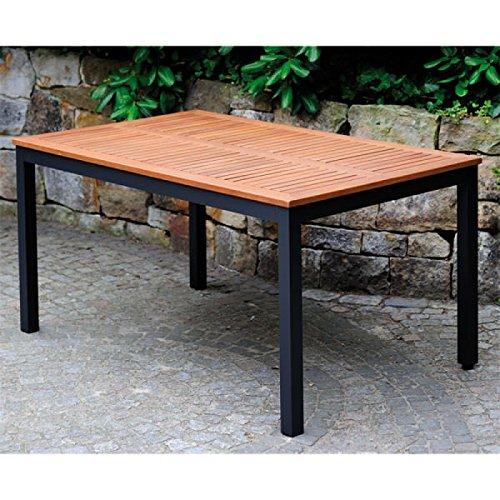 Gartentisch mit Holzplatte