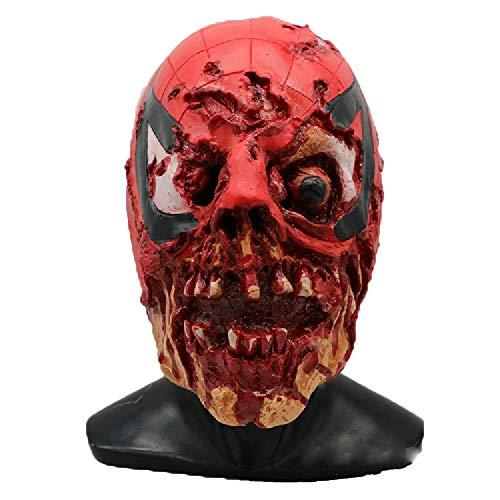 Living Dead Zombie Kostüm - Halloween Scary Terror Spider-Man Latex Erwachsenenmaske