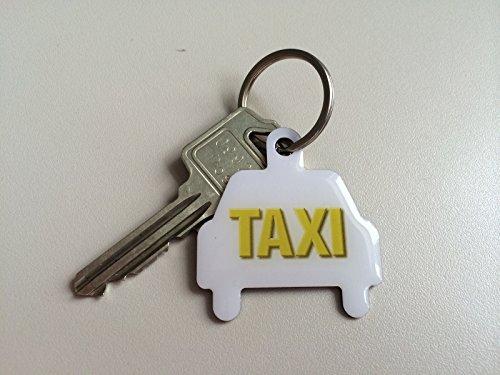 Preisvergleich Produktbild 1 Stück TAXI Schlüsselanhänger mit 365 Tagen Schlüsselrückführ-Service