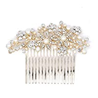 TONKOW Hair Clip Combs Bridal Headdress Fashion Comb Pearl Wedding Accessories Slides for Women Headband Hair