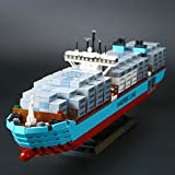 Modbrix 22002 Custom Bausteine Schiff 1518 tlg. Konstruktionsspielzeug Containerschiff Set
