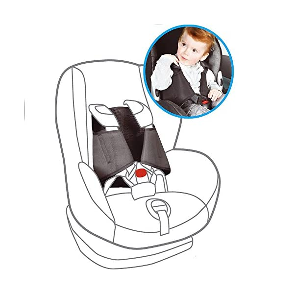 5 Point Plus Car Seat Anti Escape System 2.5-4 years old (Black) 5 Point Plus Prevents your child from wriggling free from their child seat Fills the gaps in the harness to prevent an escape Simple and easy to fit in around 20 seconds 1