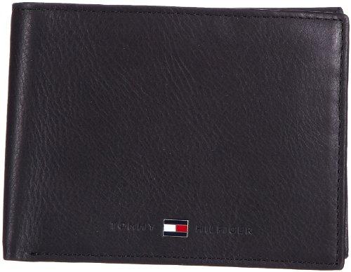 Tommy Hilfiger JOHNSON CC AND COIN POCKET BM56921052, Herren Geldbörsen 14x10x2 cm (B x H x T) Schwarz (BLACK 990)