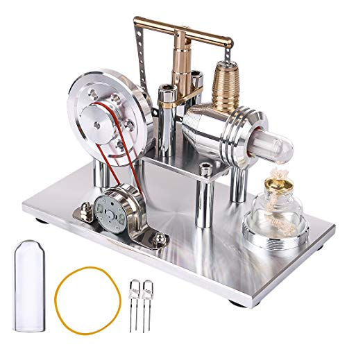MRKE Stirlingmotor Bausatz Balance Kupferzylinder Niedertemperatur Generator Stirling Engine Model Kit Physik Wissenschaft Experiment Unterricht Steam DIY STEM Spielzeug Geschenk - Engine Model