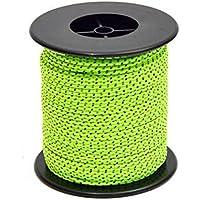 SunBeter Reflective Cord Guy Line Tent Guide Cuerda de nylon para acampar al aire libre y senderismo verde fluorescente-50M(2.5mm)