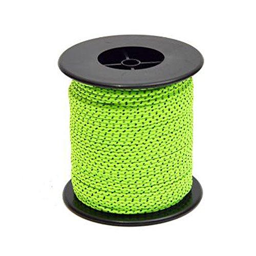 SunBeter Reflektierende Schnur Guy Linie Zelt Führungsseil Nylonschnur für Outdoor Camping und Wandern Fluorescent Green-50(2.5mm) -