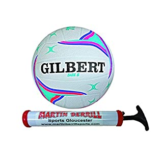 Gilbert APT Training Netball With Free Hand Pump (Purple, Size 4)