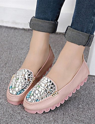 ZQ Scarpe Donna Finta pelle Piatto Punta arrotondata Mocassini Casual Blu/Rosa/Bianco , pink-us8 / eu39 / uk6 / cn39 , pink-us8 / eu39 / uk6 / cn39 pink-us7.5 / eu38 / uk5.5 / cn38