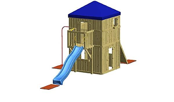 Xxl Klettergerüst 2 4m Kletterturm Spielturm Mit Kletternetz Reckstange Leiter : Winnetoo spielturm gp giga amazon spielzeug