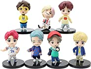 7PCS BTS cake toppers Characters set of action figure for BTS birthday party supplies