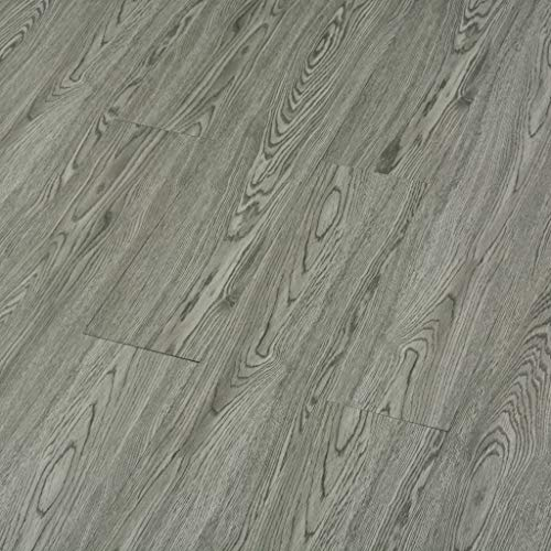 Festnight- PVC Laminat Dielen Selbstklebend Vinyl Bodenbelag |  Strapazierfähig und rutschfest | 4,46 m² Grau für Küche, Bad, Flur und  Wohnzimmer