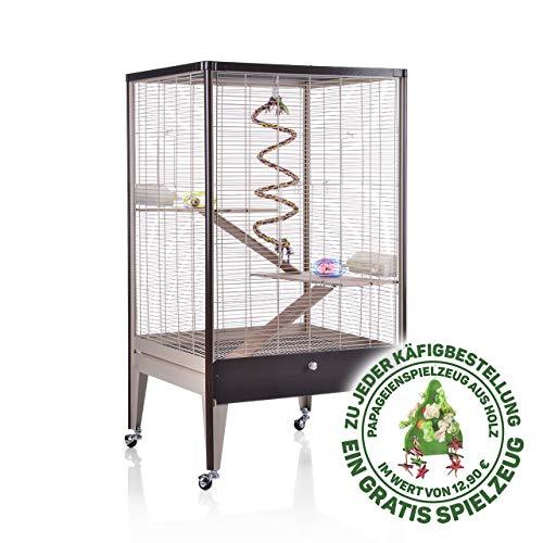 Montana Cages ®   Happy Home 66 A - Choco-Vanilla/Oak Montana Degu Chinchilla Nagerheim
