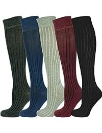 Mysocks® Calcetines largos unisex hasta la rodilla con un diseño extra fino de algodón peinado