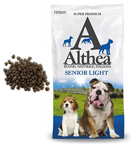Althea Senior Light 2,5 kg - Crocchette alla carne per cani anziani di taglia media e grande, naturali al 100%