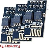 AZDelivery 3 x ESP8266 01 ESP-01 WiFi Un Module Wi-FI pour Arduino, Raspberry Pi Module Transceiver, y compris un eBook