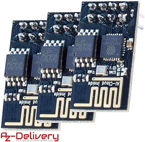 AZDelivery 3 x Esp8266 ESP-01S Módulo Wi-Fi/WiFi