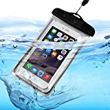Fone-Case (Black) ZTE Axon Max 2 Waterproof Bag Case Universal Mobile Cell Camera Luminous Pouch Dry Underwater Touch Responsive Cover with Sealed System Enviromental Friendly with TPU Construction