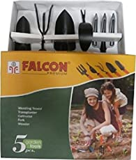 Falcon FGTB- 94/5 5-Piece Steel Garden Tool Set (Multicolor)