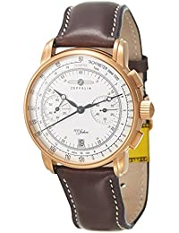 Zeppelin Unisex-Armbanduhr Chronograph Quarz Leder 7672-1