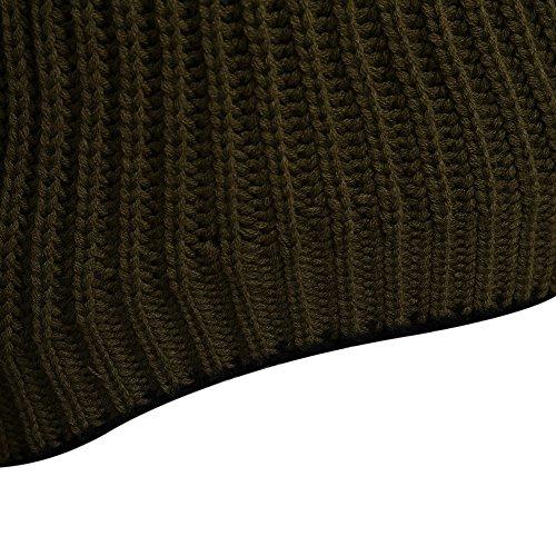 DressLily - Pull - Col Rond - Manches Longues - Femme vert militaire