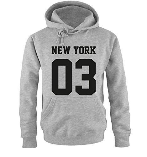 Comedy Shirts -  Felpa con cappuccio  - Maniche lunghe  - Uomo Grey / Black