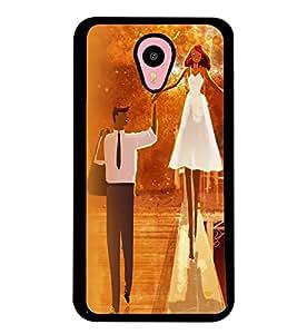 Printvisa Bride And Groom In Orange Background Back Case Cover for Meizu m2 note::Meizu Blue Charm Note2