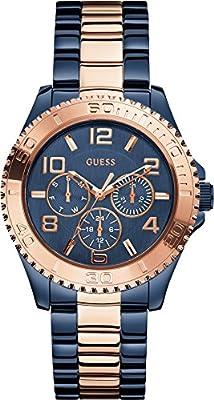 Guess W0231L6 - Reloj de pulsera Mujer, Acero inoxidable, color Multicolor