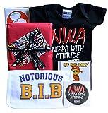 NWA Baby Geschenkbox Nippa With Attitude Babybody Notorious B.I.B. HipHop Musik-CD und Aufkleber