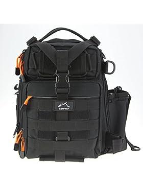 Hetto Schulterrucksack Tactical Sling Bag Umhängetasche Brusttasche MOLLE mit einem verstellbaren Gurt-Crossover...