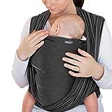Makimaja - Portabebés gris oscuro - portabebés de alta calidad para recién nacidos y bebés hasta 15 kg - hecho de algodón suave - incluye bolsa para guardar y babero
