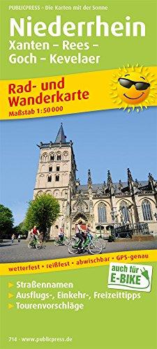 Niederrhein, Xanten - Rees - Goch - Kevelaer: Rad- und Wanderkarte mit Ausflugszielen, Einkehr- & Freizeittipps, wetterfest, reißfest, abwischbar, GPS-genau. 1:50000 (Rad- und Wanderkarte / RuWK)