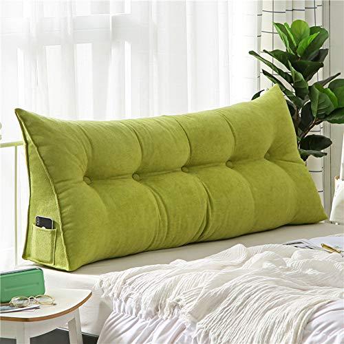 HSMM Dreieckiger Keil Kissen,lesen Kopfkissen,große Weiche Kopfteil,verstärkt Gefüllt Dreieckig Weich Abnehmbare Rest Schlafzimmer-d 180x50x20cm(71x20x8) -