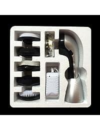 Leoie Shoe polisher Portable Electric Shoe Brush Multi-Function Handheld Mini Electric Shoe Polisher Silver 24.8 * 25 * 9.8CMsmart soft